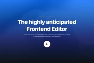 Uncode frontend editor banner
